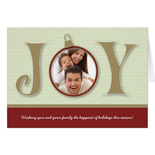 Holiday Joy Custom Family Holiday Card (red)