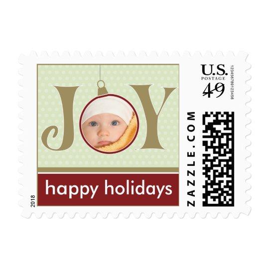 Holiday Joy Custom Holiday Postage (red)