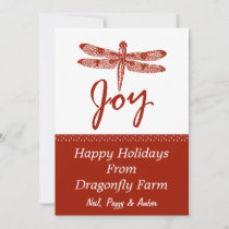 Holiday Joy Dragonfly