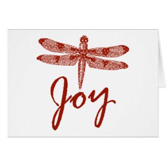 Holiday Joy Dragonfly Greeting Cards