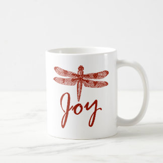 Holiday Joy Dragonfly Mug