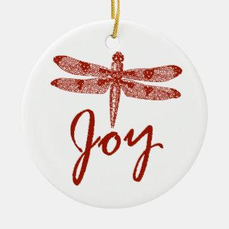 Holiday Joy Dragonfly Christmas Ornaments