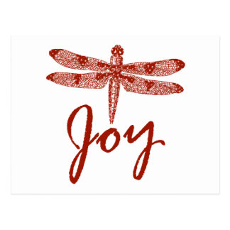 Holiday Joy Dragonfly Post Cards