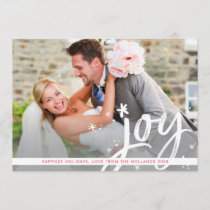 HOLIDAY JOY modern overlay photo script lettering