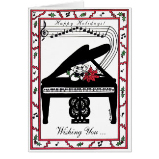 Holiday joy on a grand scale greeting card