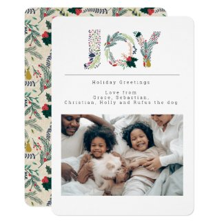 Holiday Joy Photo Personalized Card