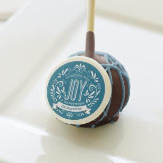 HOLIDAY JOY VINTAGE CHALKBOARD CUSTOM CAKE POPS