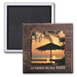 Holiday Keepsake Beach Photo Magnet