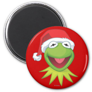 Holiday Kermit 2 2 Inch Round Magnet