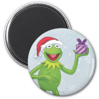 Holiday Kermit 2 Inch Round Magnet