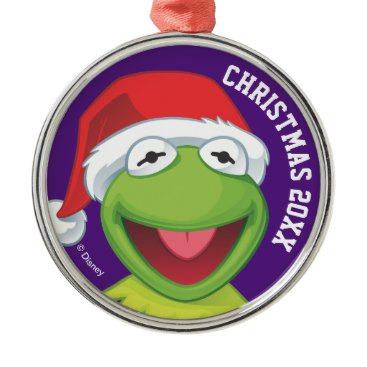 Disney Themed Holiday Kermit 2 Metal Ornament
