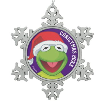 Disney Themed Holiday Kermit 2 Snowflake Pewter Christmas Ornament