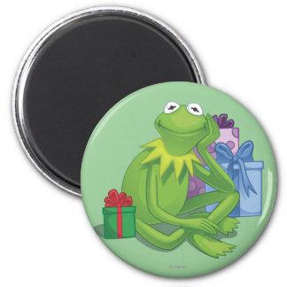 Holiday Kermit 3 2 Inch Round Magnet