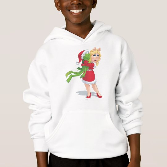 Holiday Kermit and Miss Piggy Hoodie