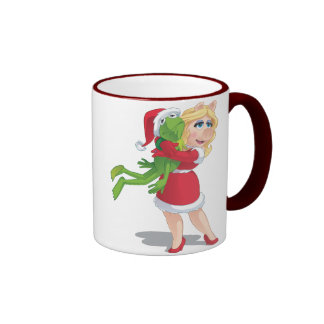 Holiday Kermit and Miss Piggy Coffee Mugs