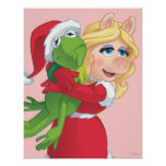 Holiday Kermit and Miss Piggy Posters