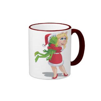 Holiday Kermit and Miss Piggy Ringer Mug
