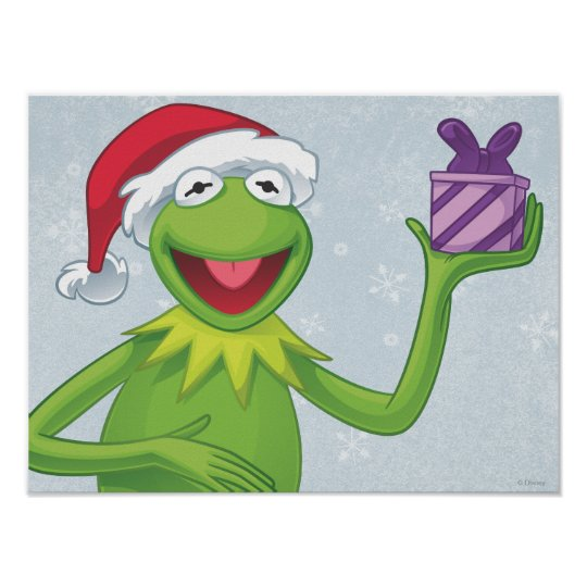 Holiday Kermit Poster
