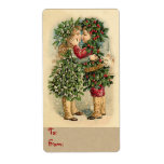 """Holiday Kiss Christmas Labels for Gifts<br><div class=""""desc"""">Victorian Christmas labels. Easy to customize. Change the text style with the """"Customize"""" button.</div>"""