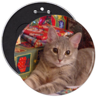 Holiday Kitty Button