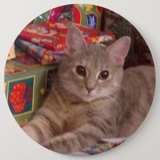 Holiday Kitty Pinback Button