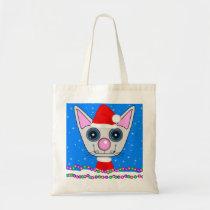 Holiday Kitty Tote Bag