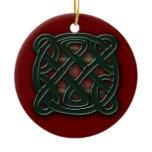 Holiday Knot Ceramic Ornament