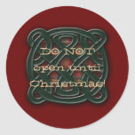 Holiday Knot Classic Round Sticker