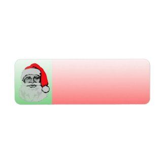 Holiday Label Santa Claus label