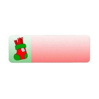 Holiday Label Stocking label