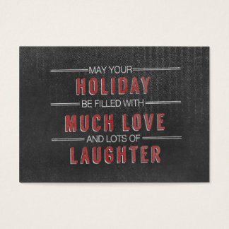 holiday laughter love Christmas Chalkboard Business Card