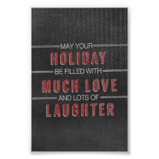 holiday laughter love Christmas Chalkboard Poster