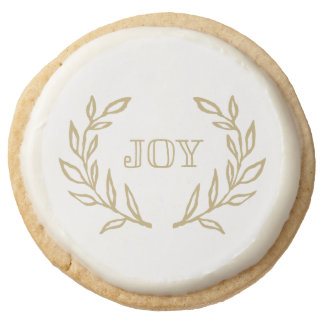 Holiday Laurels Collection Round Shortbread Cookie