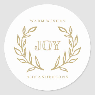 Holiday Laurels | Gift Tag Stickers