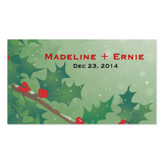 Holiday Leaves Business Card
