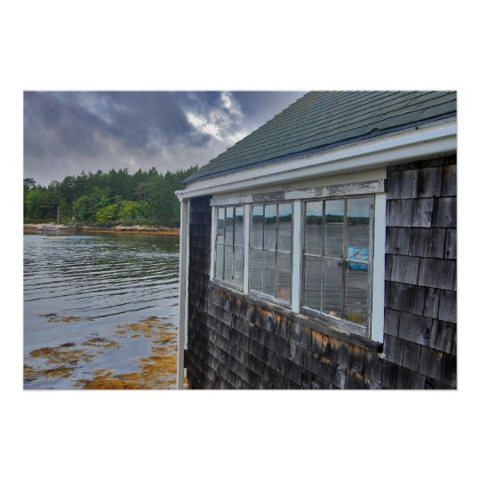 Holiday Ledges Boathouse Poster Print