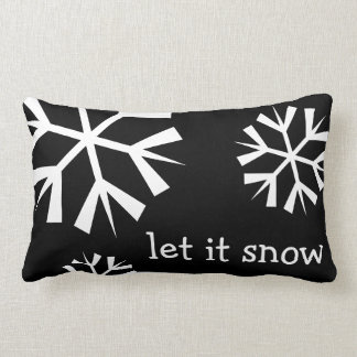Holiday Let it Snow Snowflake Pillow