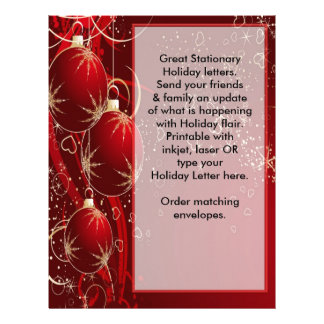 Holiday Letter Christmas to friends & family Letterhead