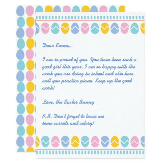 Holiday Letter from the Easter Bunny Card