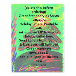 Holiday Letterhead Letter Christmas