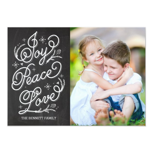 Holiday Lettering Holiday Photo Card