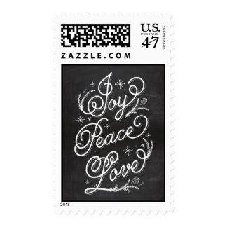 Holiday Lettering Holiday Postage - Joy Peace Love