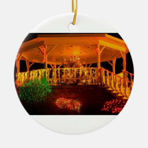 Holiday Light Bandstand Ceramic Ornament
