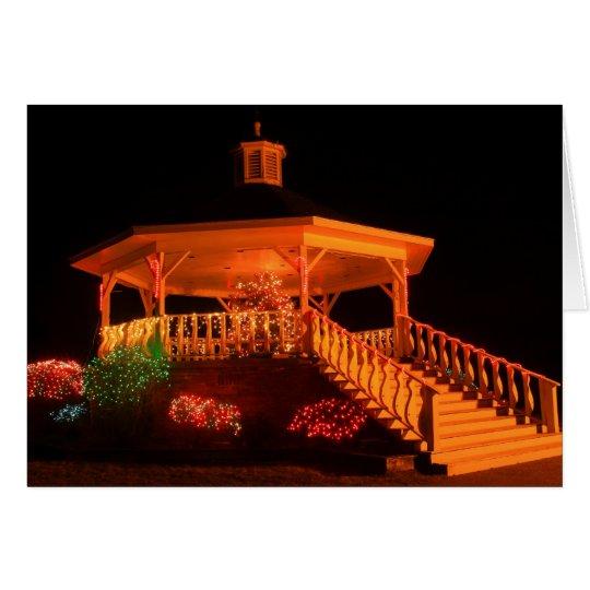 Holiday Light Bandstand Display Card