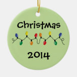 Holiday Light String Christmas Tree Ornament