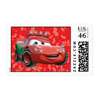 Holiday Lightning McQueen Postage Stamps