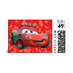 Holiday Lightning McQueen Postage Stamp