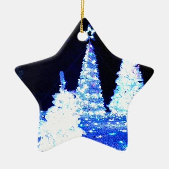 Holiday Lights Ceramic Ornament