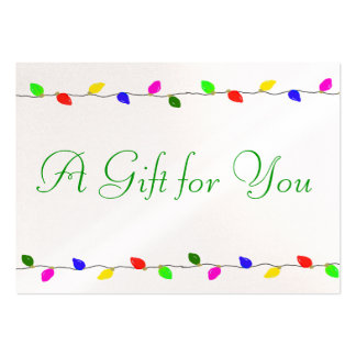 Holiday Lights Corporate Gift Certificate Business Business Card