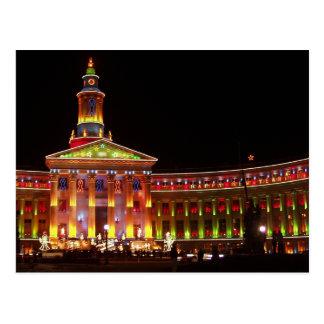 Holiday Lights Denver Civic Center Postcard
